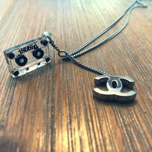 CHANEL Vintage Cassette Tape Charm Necklace